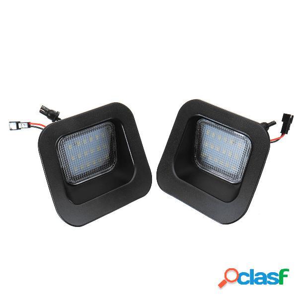 Par LED Número de licencia Placa Luces blancas para Dodge