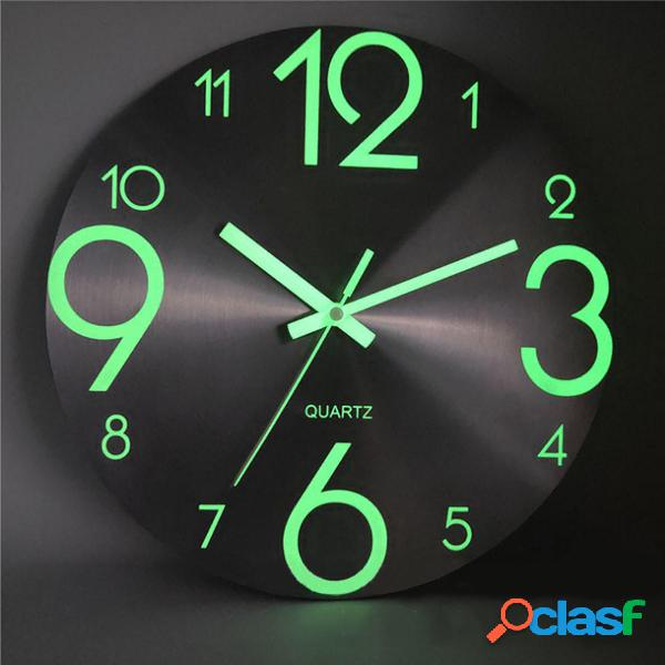 Pared luminosa Reloj Número Cuarzo colgante Relojs Brillo