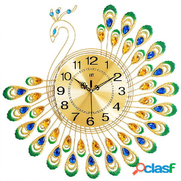 Peacock Wall Reloj Salón de estilo europeo Personalidad