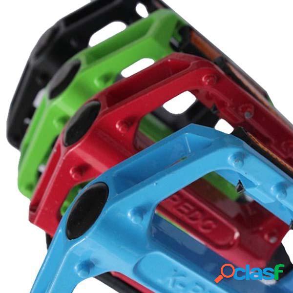 Pedales de bicicleta de aleación de aluminio coloreadas