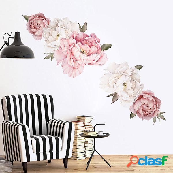 Peonía Papel de pared Calcomanías de pared florales