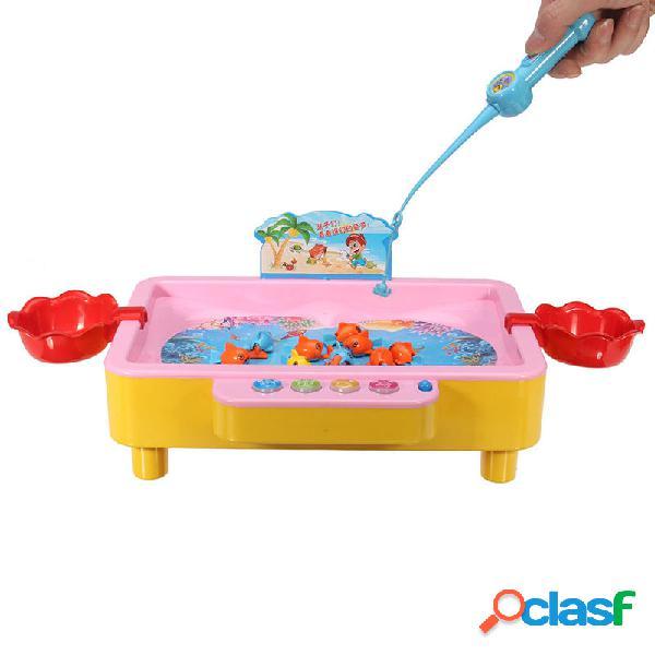 Pesca educativa colorido juguete magnético juego de mesa de