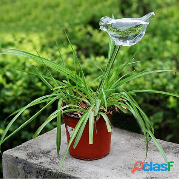 Pájaro en forma de planta de vidrio flor holiday riego pico