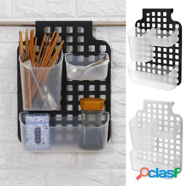 Plástico 3 compartimentos Cuchara de cocina Palillos