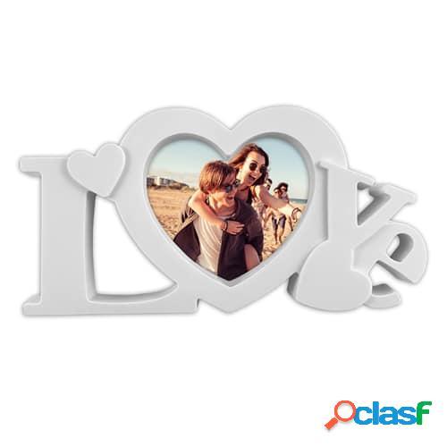 Portafotos personalizado LOVE (Blanco)