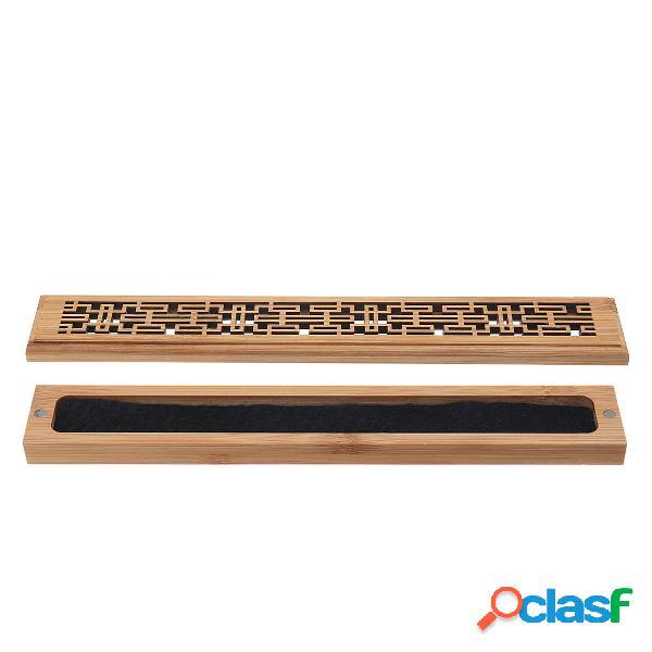 Quemador de incienso de madera de artesanía Caja Titular