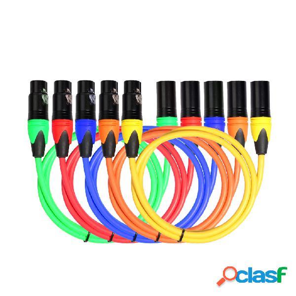REXLIS Juego de cinco colores Canon Cable de audio / Juego