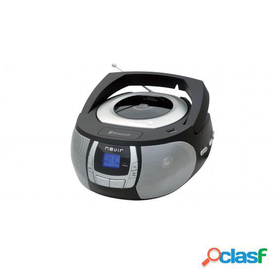 Radio CD NEVIR NVR481 MP3 Bluetooth Negro