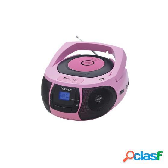 Radio CD NEVIR NVR481 MP3 Bluetooth Rosa