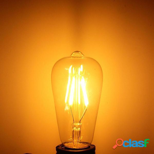 Regulable vendimia Retro E27 ST58 4W LED COB Filamento
