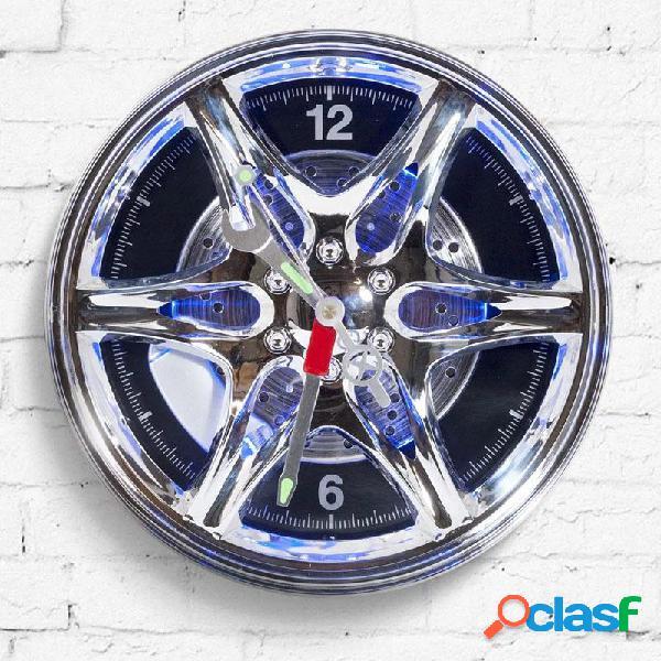 Reloj de pared Rueda llanta con led