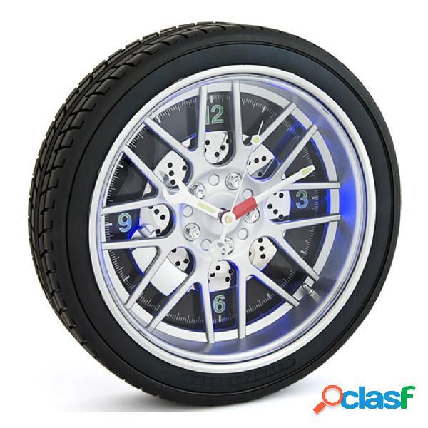 Reloj de pared Rueda neumático con led