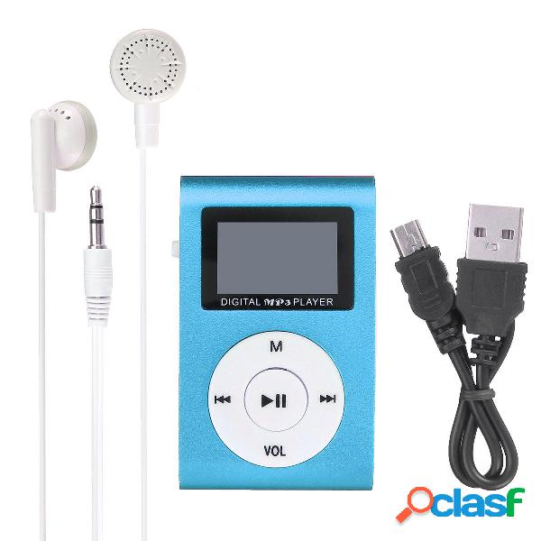 Reproductor de MP3 Clip USB 32GB Ranura para tarjeta Micro