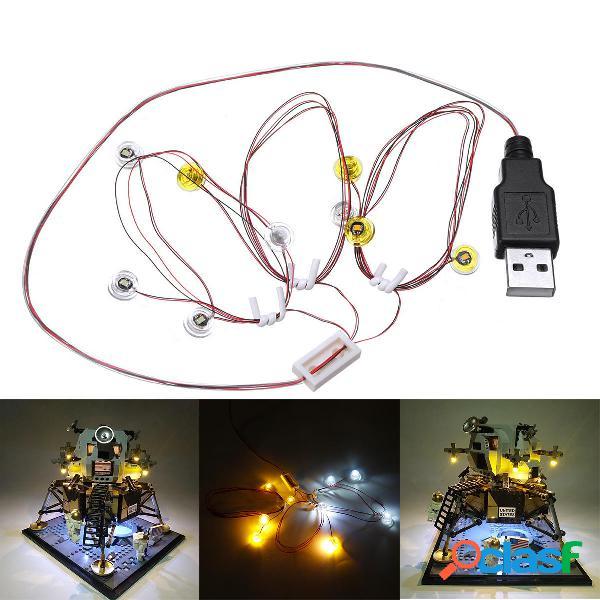 SOLO luz LED Kit de iluminación para Lego 10266 Apollo 11