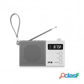 SPC Jetty Max Radio Portátil Despertador Blanca