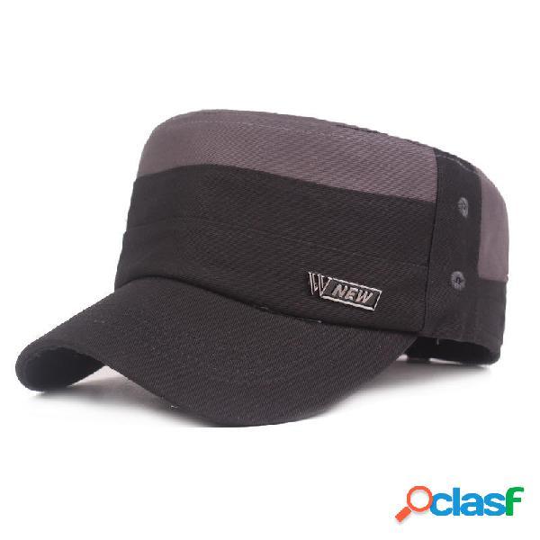 Sombrero de algodón para hombres Sombrero militar Sombrero