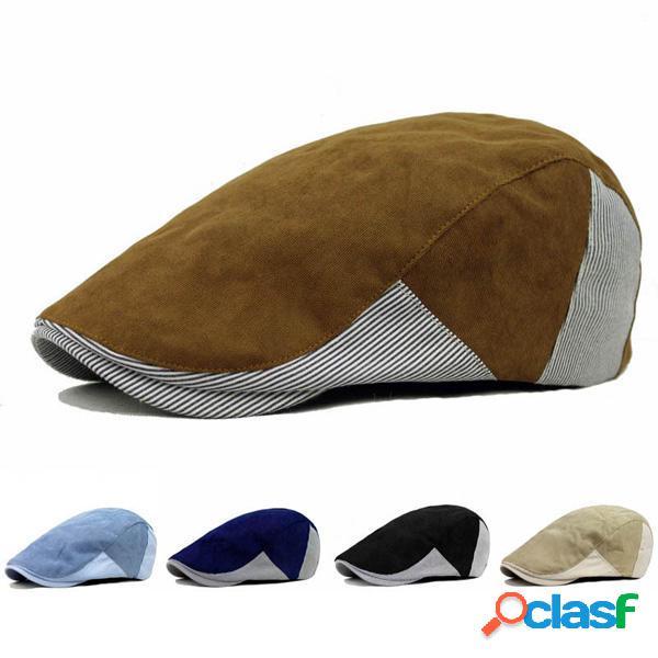 Sombrero de la Boina de Hebilla de Algodón Unisexo de