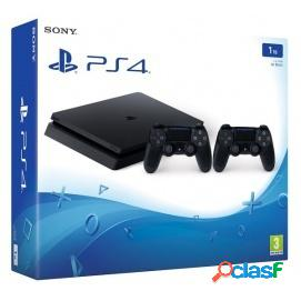 Sony PS4 PlayStation 4 Slim 1TB Chasis F + 2 Mandos