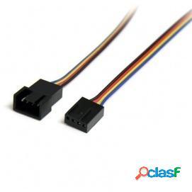 Startech Cable de Extensión para Ventilador 4 Pines