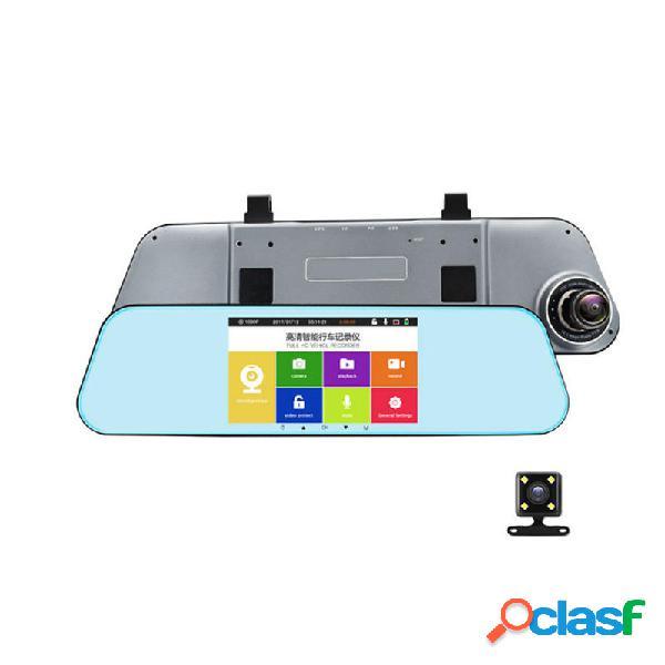 T29 Dual Dash Cam Espejo retrovisor de respaldo Cámara