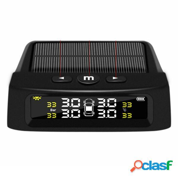 TPMS Presión de los neumáticos Solar Alarma Monitor