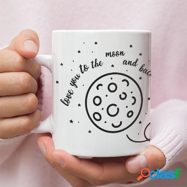 "Taza ""Love you to the moon and back"""
