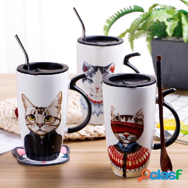 Taza personalizada Gato Creative Trend Water Cup Home Office