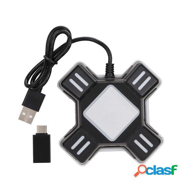 Teclado ratón Adaptador Gamepad Controlador convertidor Hub