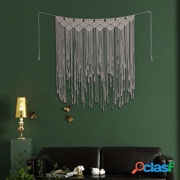 Telón de fondo de macramé cortinas colgando Bo ho Boda