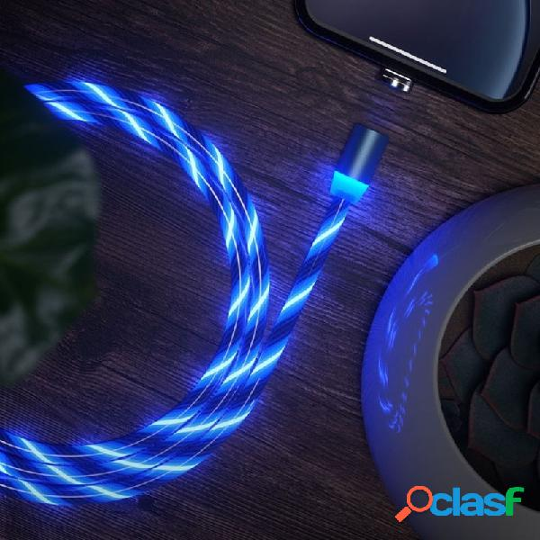 Tipo-C luz LED Cable Line Micro USB Cable de datos Cable de