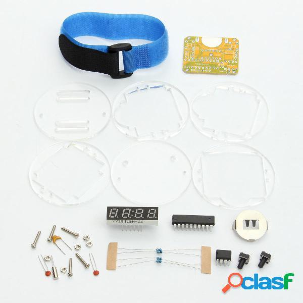 Tubo digital de 4 bits DIY Kit LED Reloj digital