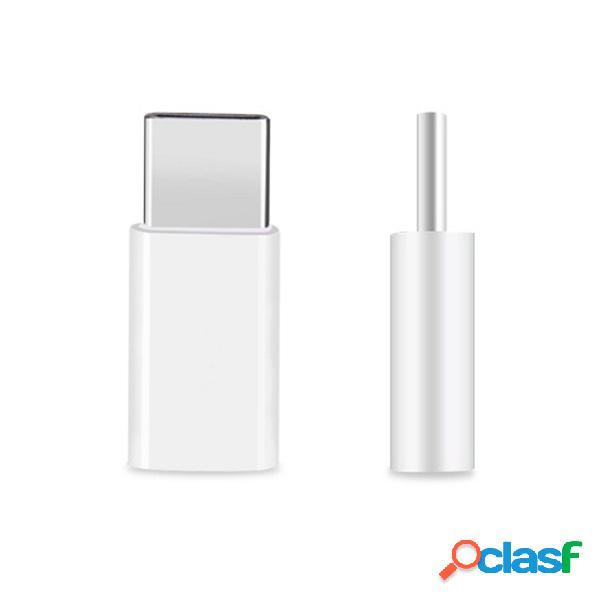 USB 3.1 Type C macho al adaptador micro de la hembra del USB