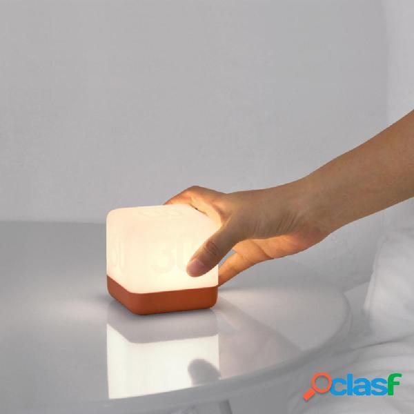 USB recargable LED Mesilla de noche Lámpara Inversión