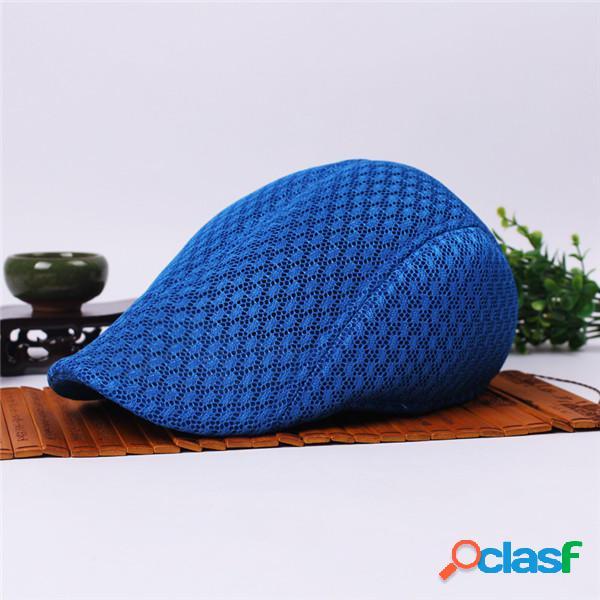Unisex Mesh Boina Sombreros Breathable Solid Deportes al
