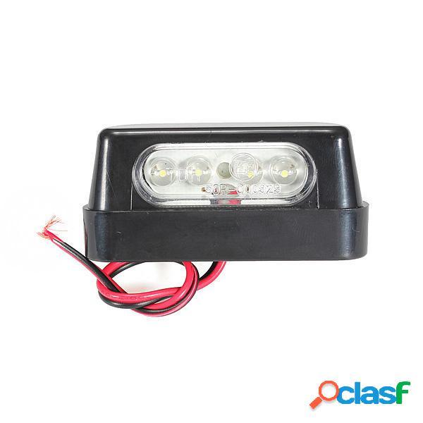 Universal, negro 4 LED s lámparas de luz de la cola de la