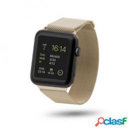 Unotec Correa Malla Metal Dorada para Apple Watch 42mm
