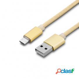 Unotec Nueboo Cable Metálico Micro USB a USB 1m Dorado