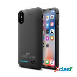 Unotec Power&Case Funda Negra con Batería para iPhone X/XS