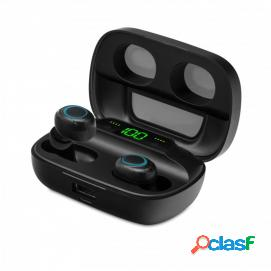 Unotec TWIN 5 Auriculares Bluetooth con Powerbank Negro