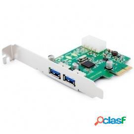Unotec Tarjeta PCIe 2 Puertos USB 3.0