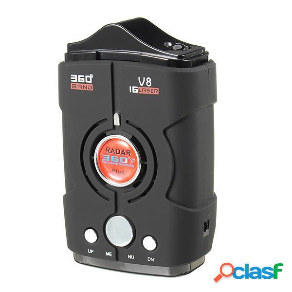 V8 el detector anti del radar de voz de banda de barrido de