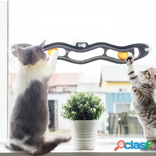 Ventosa Mascota Gato Túnel Entrenamiento Juguete Tenis de