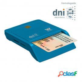 Woxter Lector Combo DNI-e USB + Smart Cards Azul