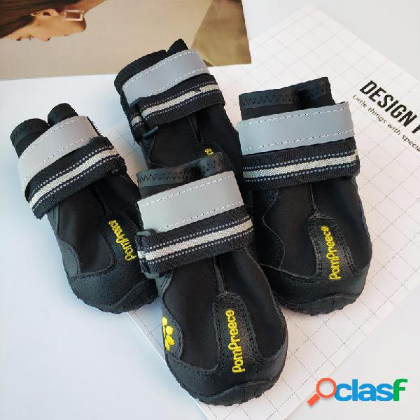Yani 4Pcs Perro Zapatos Zapatos para mascotas Botas Sport