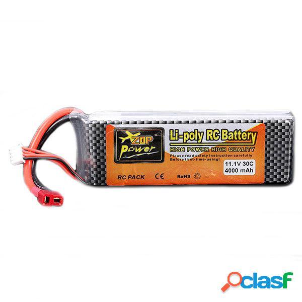 ZOP Power 11.1V 4000MAH 3S 30C Batería de Lipo con Enchufe