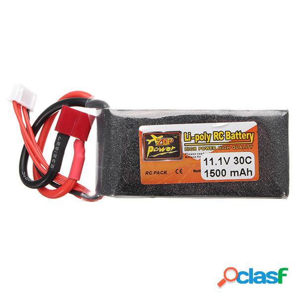 ZOP Power Batería de Lipo de 11.1V 1500MAH 3S 30C Enchufe T