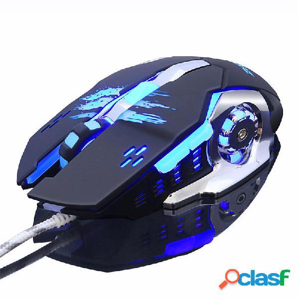 ZUOYA MMR4 con cable ratón Ratones de juego LED Computadora