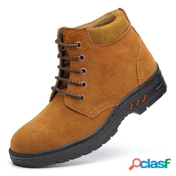 Zapatos de trabajo de seguridad antideslizantes con punta de