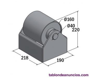 Rodillos con soporte de 160 mm para contenedor, carrocerias,