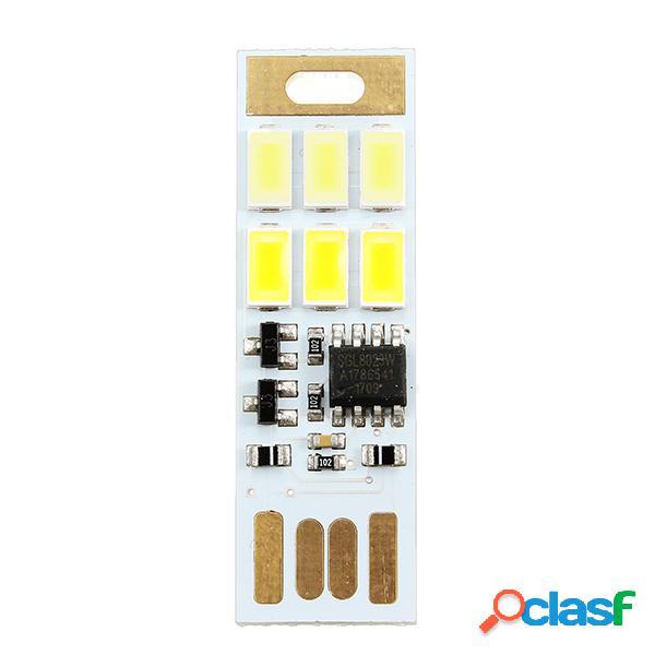 1.2W 5V 5730 SMD Mini USB Dimmable LED Luz de la noche del